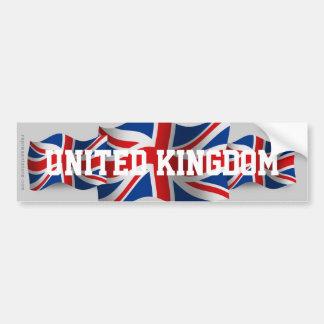 Bandera que agita de Reino Unido Pegatina Para Auto