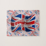 Bandera que agita de Reino Unido Rompecabezas
