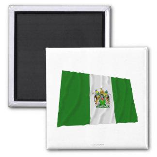 Bandera que agita de Rhodesia (1968-1979) Imán Cuadrado