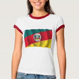 Bandera que agita de Río Grande del Sur, el Brasil Remeras