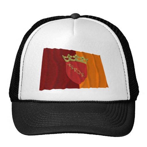 Bandera que agita de Roma Gorra