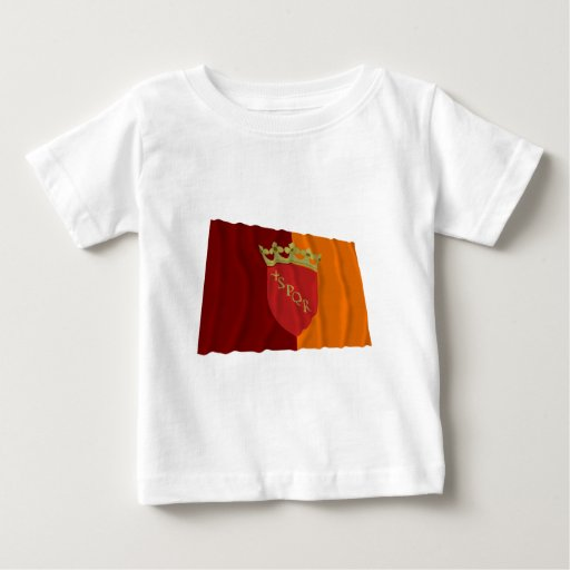 Bandera que agita de Roma Playera De Bebé