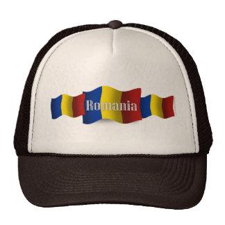 Bandera que agita de Rumania Gorros Bordados