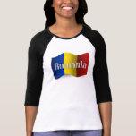 Bandera que agita de Rumania Tshirt