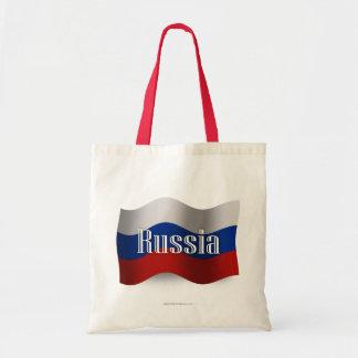 Bandera que agita de Rusia Bolsas De Mano