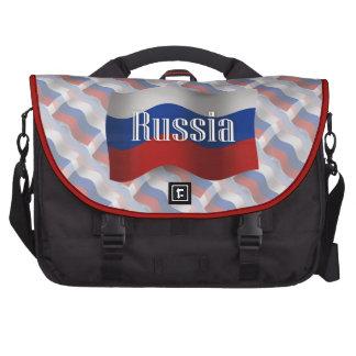 Bandera que agita de Rusia Bolsa De Ordenador