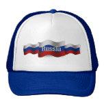 Bandera que agita de Rusia Gorro