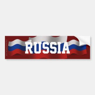 Bandera que agita de Rusia Pegatina Para Auto