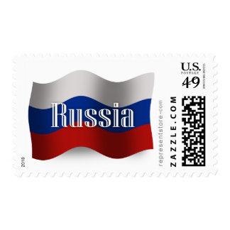 Bandera que agita de Rusia Sellos