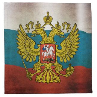 Bandera que agita de Rusia Servilleta Imprimida
