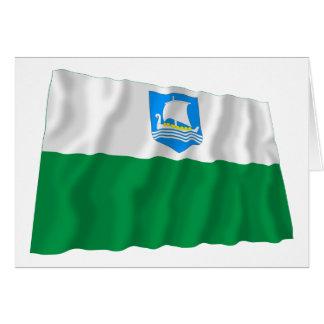 Bandera que agita de Saare Tarjeta De Felicitación