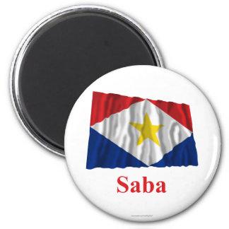 Bandera que agita de Saba con nombre Imán Para Frigorifico