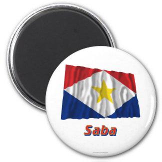 Bandera que agita de Saba con nombre Iman Para Frigorífico