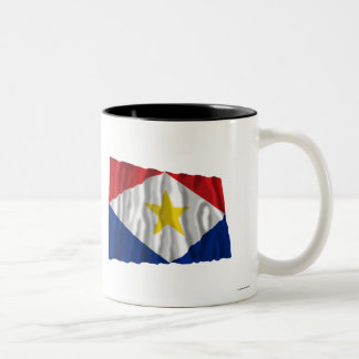 Bandera que agita de Saba Taza De Café