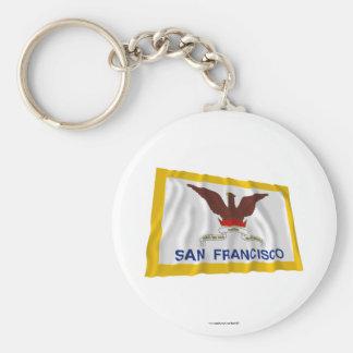 Bandera que agita de San Francisco Llavero Personalizado