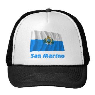 Bandera que agita de San Marino con nombre Gorros