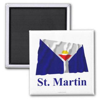Bandera que agita de San Martín con nombre Imán Cuadrado