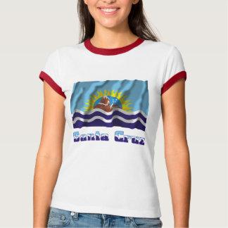 Bandera que agita de Santa Cruz con nombre Tee Shirts