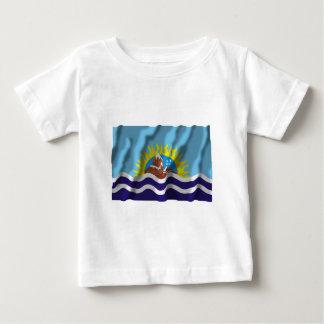Bandera que agita de Santa Cruz Camisetas
