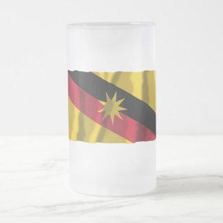 Bandera que agita de Sarawak Tazas De Café