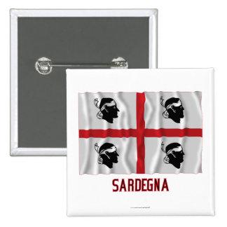 Bandera que agita de Sardegna con nombre Pin