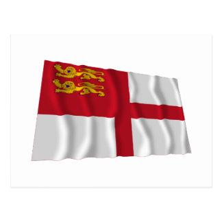 Bandera que agita de Sark Postal
