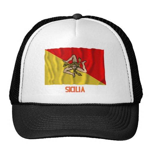 Bandera que agita de Sicilia con nombre Gorro De Camionero