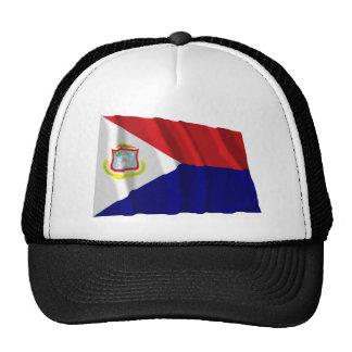 Bandera que agita de Sint Maarten Gorras