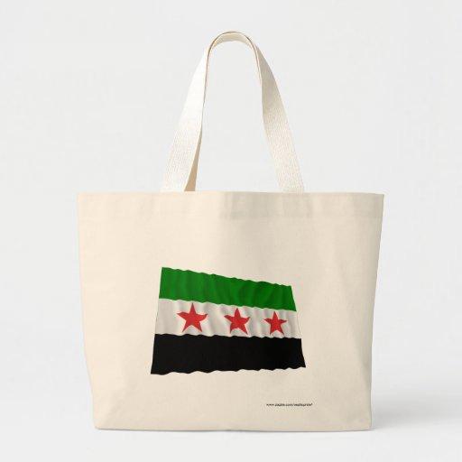 Bandera que agita de Siria (1932-1958 y 1961-1963) Bolsas Lienzo