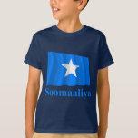 Bandera que agita de Somalia con nombre en somalí Playera