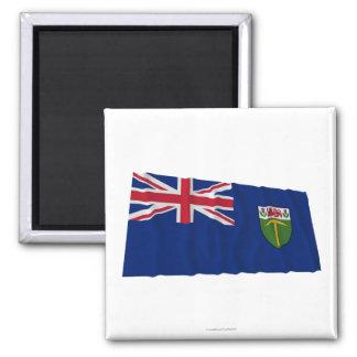 Bandera que agita de Southern Rhodesia (1923-1953) Imán Cuadrado