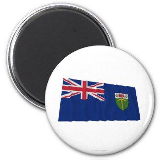 Bandera que agita de Southern Rhodesia (1923-1953) Imán Redondo 5 Cm