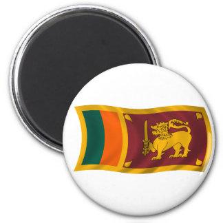 Bandera que agita de Sri Lanka Imán Redondo 5 Cm