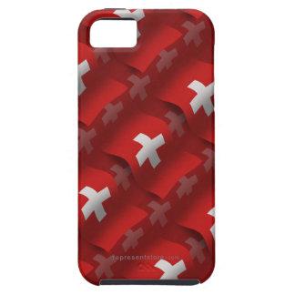 Bandera que agita de Suiza iPhone 5 Carcasa