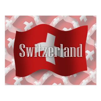 Bandera que agita de Suiza Tarjeta Postal