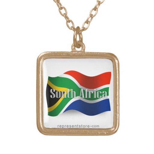 Bandera que agita de Suráfrica Colgante Cuadrado