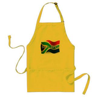 Bandera que agita de Suráfrica Delantal
