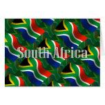 Bandera que agita de Suráfrica Felicitación