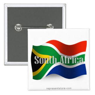 Bandera que agita de Suráfrica Pin