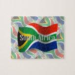 Bandera que agita de Suráfrica Rompecabezas Con Fotos