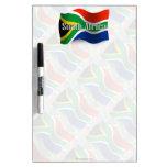 Bandera que agita de Suráfrica Tableros Blancos