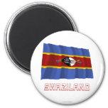 Bandera que agita de Swazilandia con nombre Iman De Frigorífico