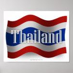 Bandera que agita de Tailandia Posters