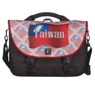 Bandera que agita de Taiwán Bolsas Para Portátil
