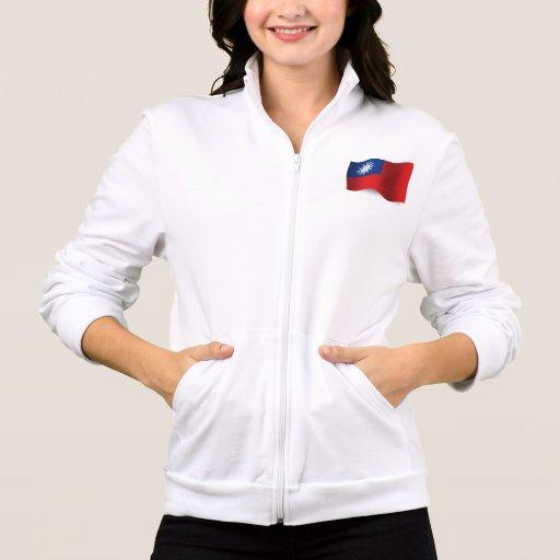 Bandera que agita de Taiwán Chamarra