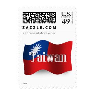 Bandera que agita de Taiwán Franqueo