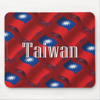 Bandera que agita de Taiwán Tapetes De Ratón