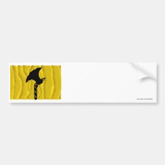 Bandera que agita de Telemark Pegatina De Parachoque