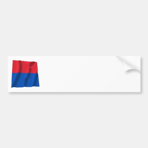 Bandera que agita de Tesino Pegatina De Parachoque