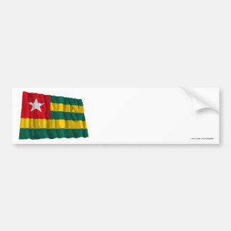 Bandera que agita de Togo Pegatina Para Auto
